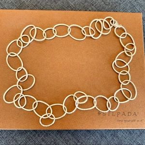 Silpada Sterling Hammered Link Necklace Retired